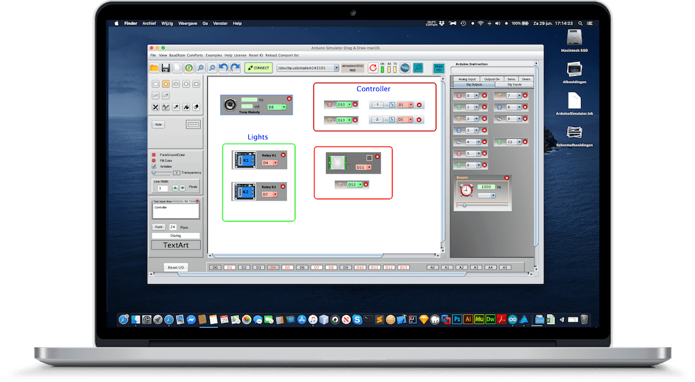 Arduino IO Simulator